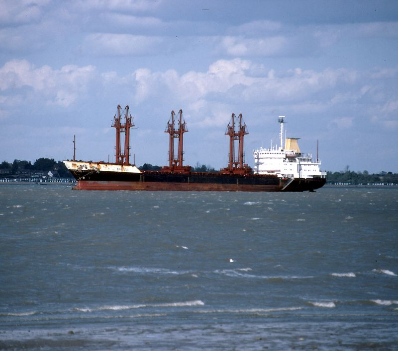 SOKOTO laid up in River Blackwater Date: 9 September 1984.